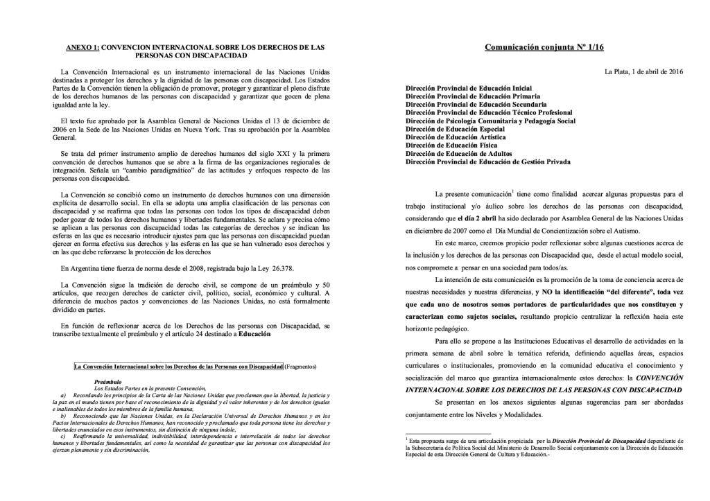 Comunicación Conjunta N° 1-161