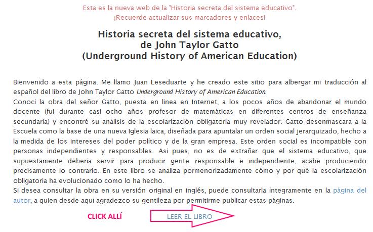 Historia secreta del sistema educativo - Página principal