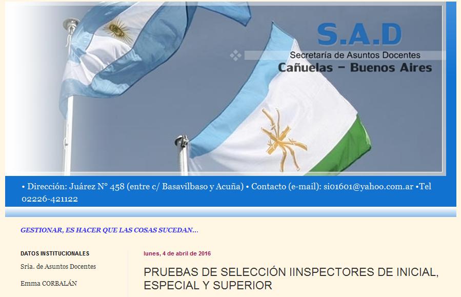 SAD CAÑUELAS PRUEBAS DE SELECCIÓN IINSPECTORES DE INICIAL, ESPECIAL Y SUPERIOR