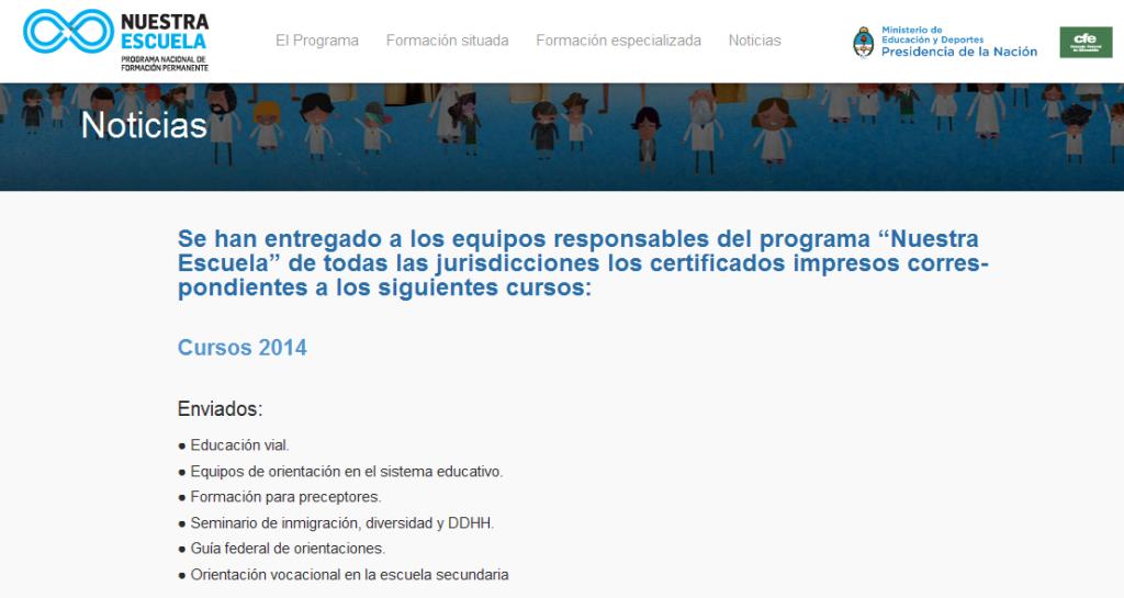 Certificados - Nuestra Escuela