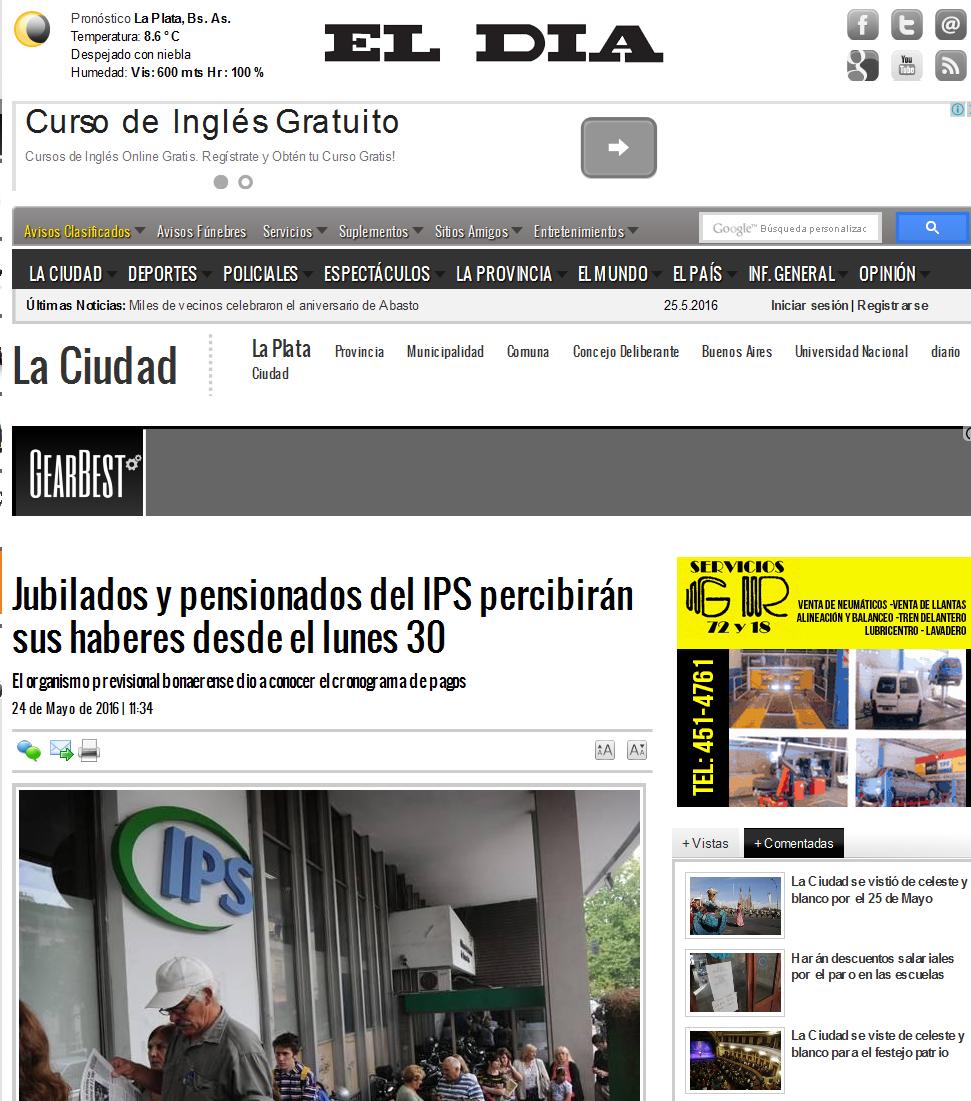 Jubilados y pensionados del IPS percibirán sus haberes desde el lunes 30 La Ciudad