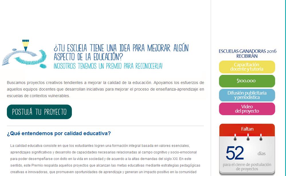PREMIO COMUNIDAD A LA EDUCACION - fundacionlanacion.org.ar