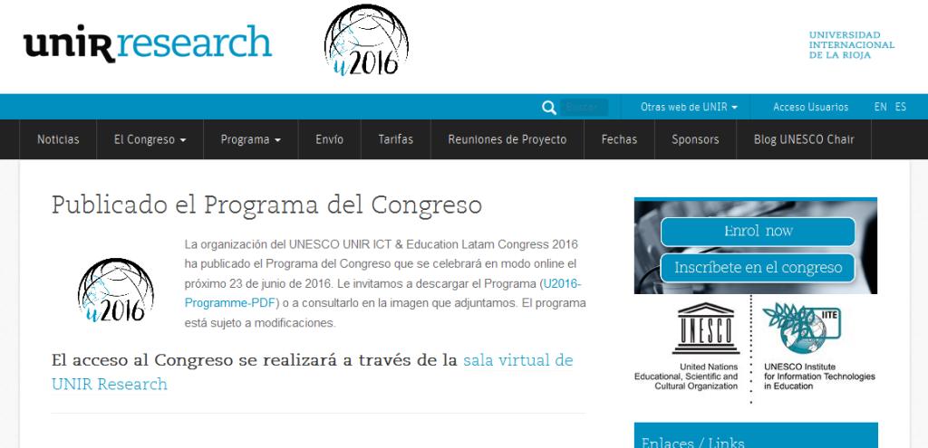 Congreso grupo de investigación. Universidad Internacional de la Rioja