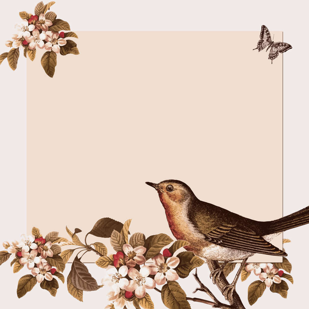 Vintage-Bird-And-Floral-Background