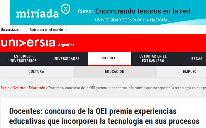 Docentes concurso de la OEI premia experiencias educativas que incorporen la tecnología en sus procesos