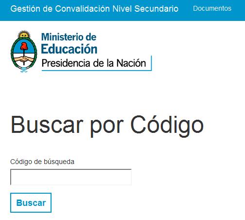 Ministerio de Educación - Convalidació