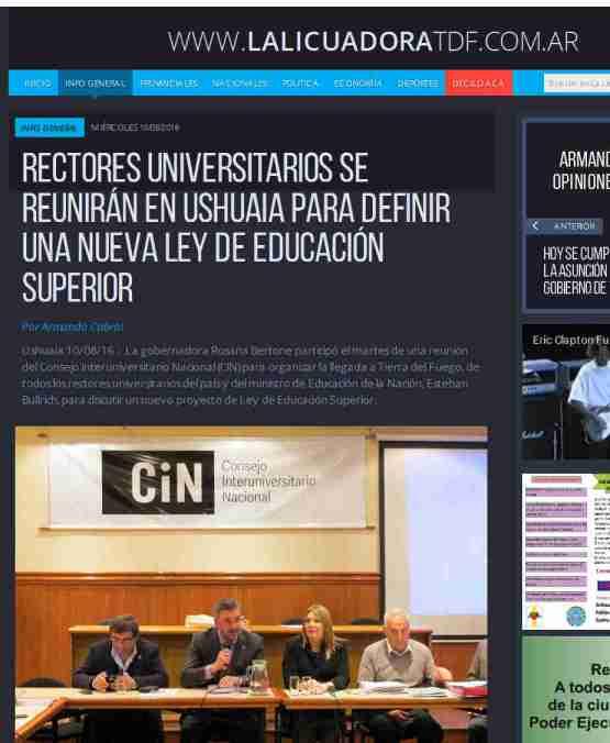 Rectores universitarios se reunirán en Ushuaia para definir una nueva Ley de Educación Superior - La Licuadora