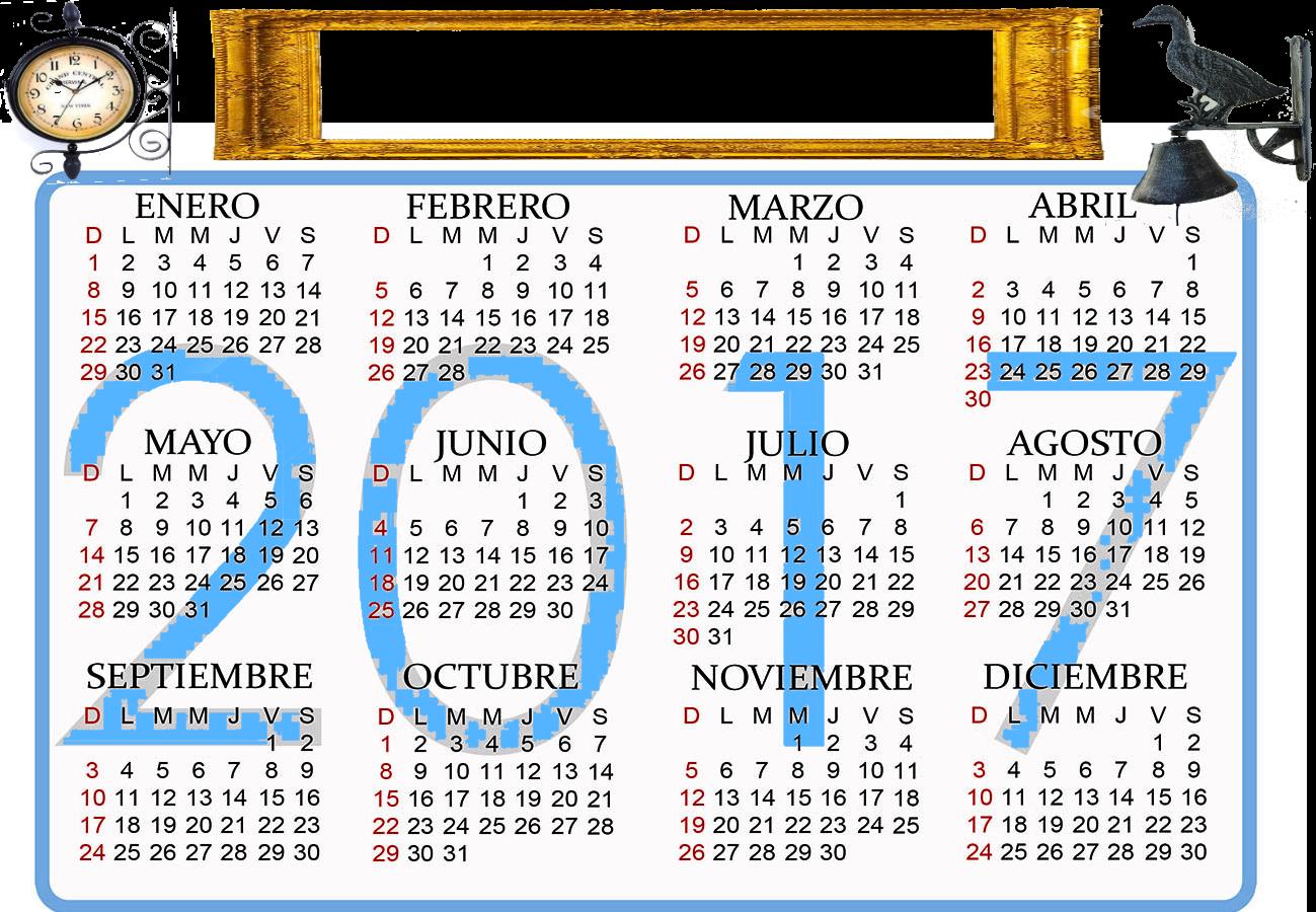 Algunos calendarios 2017 predefinidos para jefaturas for Calendario lunar de hoy