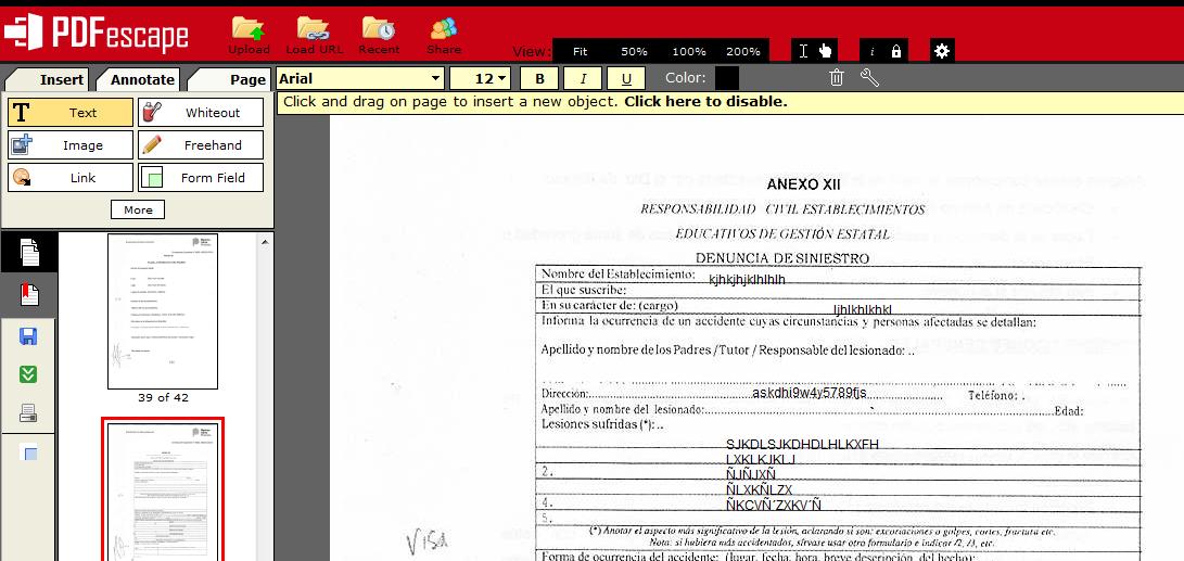 pdfescape free pdf editor &amp